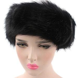 Accessories - Ladies Winter Faux Fur Hat Warm Headband Hat Cap
